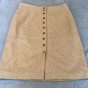 Talbot petite skirt 100 % camel hair size 14
